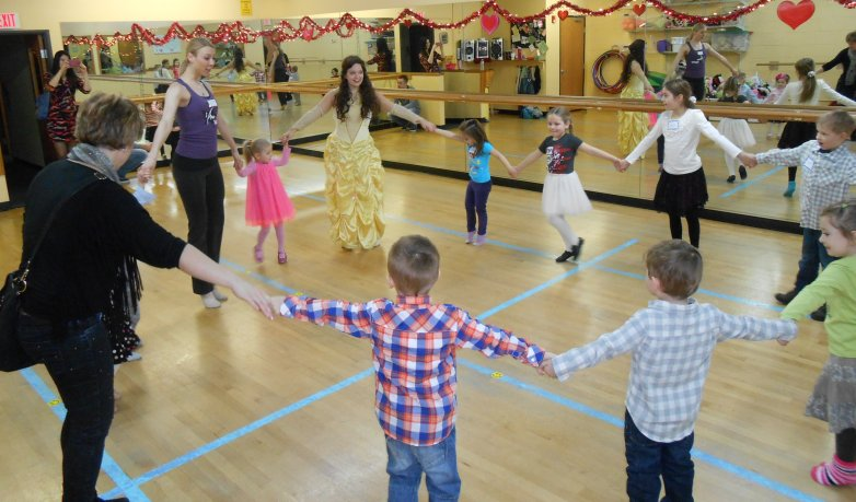 Children dancing at AMA birthday party celebration