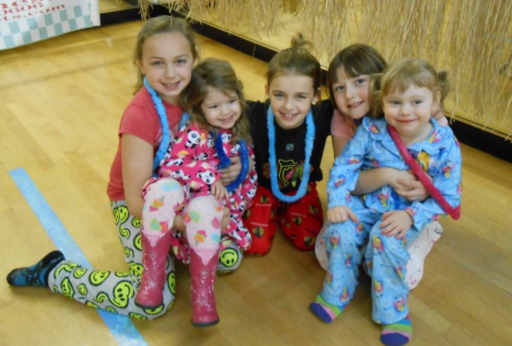 AMA Dance students attend the pajama party.