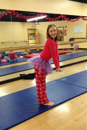 Another student poses in her handcrafted tutu.