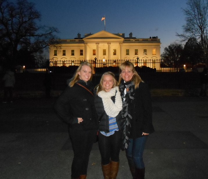 Kendal with her family in Washington.
